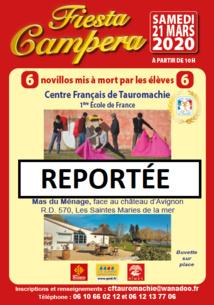 Fiesta Campera du CFT reportée