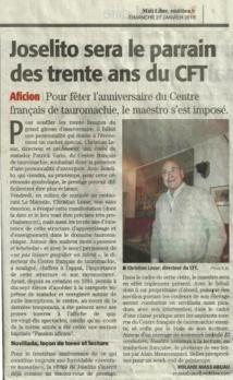 Le Centre Français de Tauromachie a 30 ans...